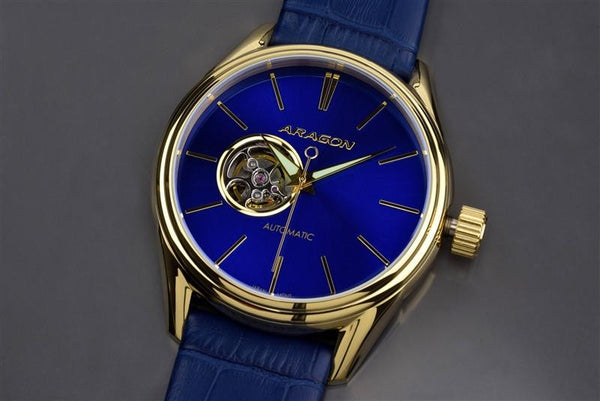 ARAGON Caprice IP Gold 43mm A114BLU