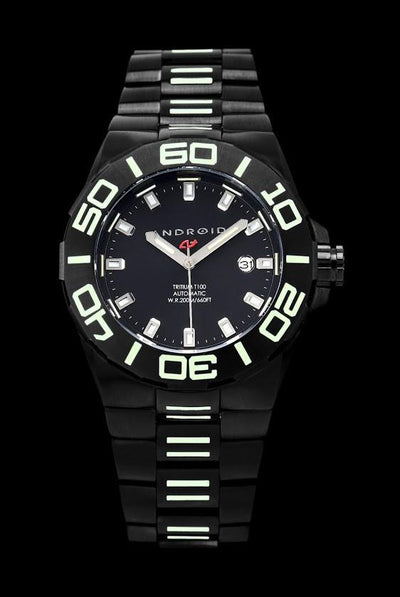 ANDROID Bioluminescence 44mm T-100 Tritium Automatic AD672BKK