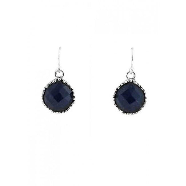 Barse Perfect Navy Quartz Teardrop Earring