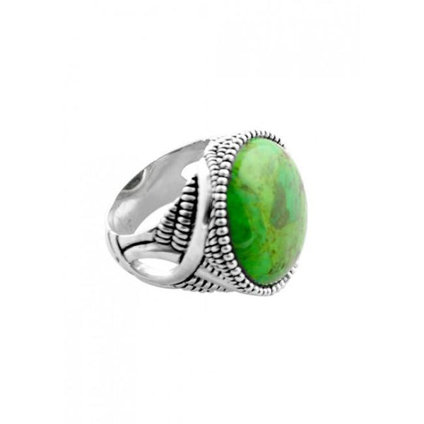 Barse Perfect Sphere Lime Turquoise Ring