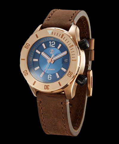 Zelos Abyss Blue Dial