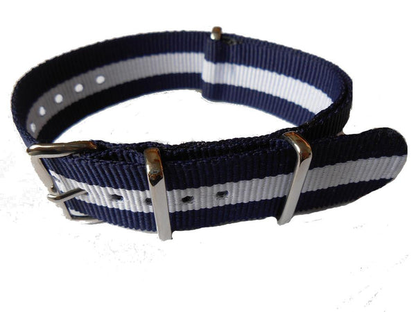 NATO Strap Navy and White