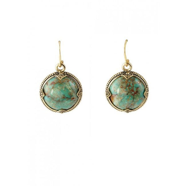 Barse Turquoise Sphere Earring