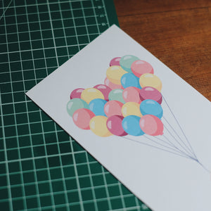 Heart Baloon Greeting Card