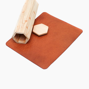 Premium Leather Mousepad - Tan
