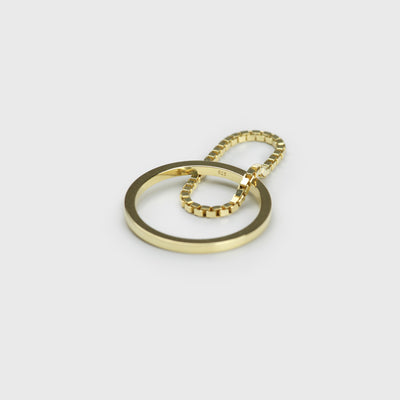 Layering Look Ring #8 Gold Perspektive | REDKI ROBKI