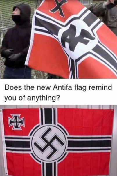 Does the new Antifa flag remind you of anything?