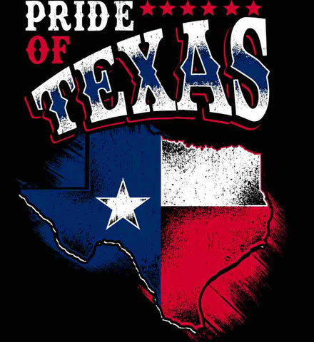 Pride of Texas. Texas Flag. Be a proud Texan Patriot.