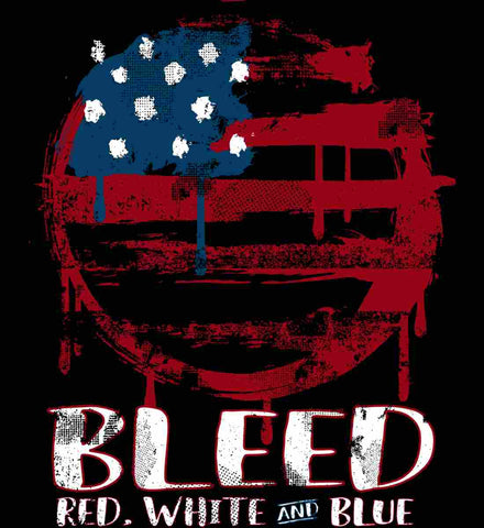 BLEED Red, White and Blue Circle Flag.