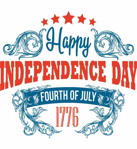 Happy Independence Day. Fourth of July. 1776.