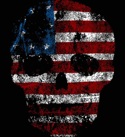 American Skull. Red, White and Blue.