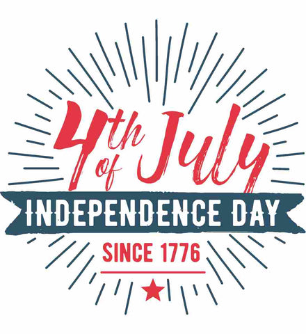 4th of July. Independence Day Since 1776.