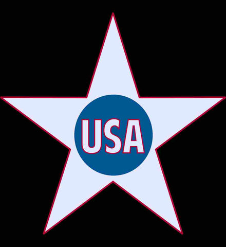 USA. Inside Star. Red, White and Blue.