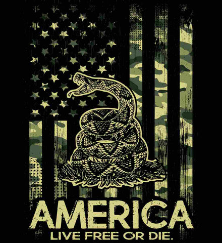 America. Live Free or Die. Don't Tread on Me. Camo.