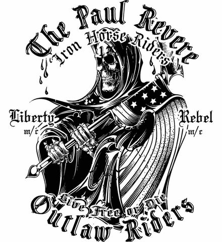 The Paul Revere Outlaw Riders. Black Print.