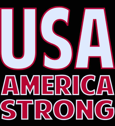 America Strong. White/Red.
