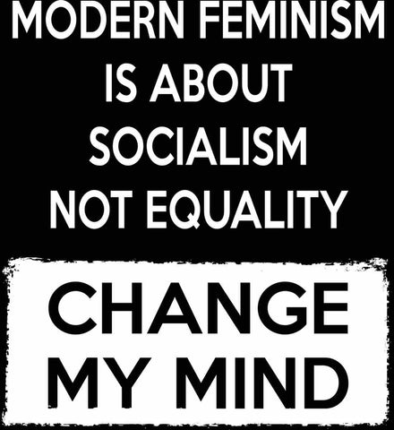 Modern Feminism Is About Socialism Not Equality - Change My Mind.