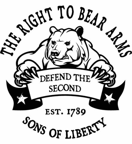The Right to Bear Arms. Defend the Second. Black Print.