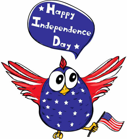 Happy Independence Day. Freedom Birdie.