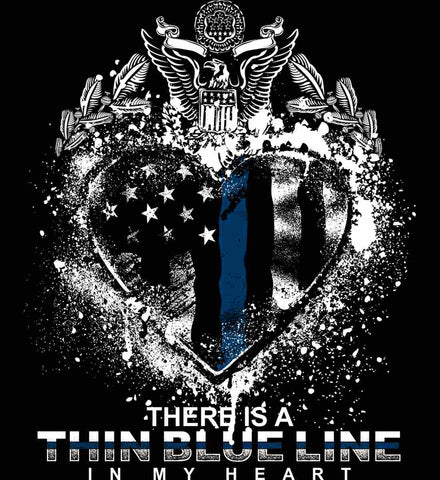 There is a Thin Blue Line in my Heart. Pro-Police.
