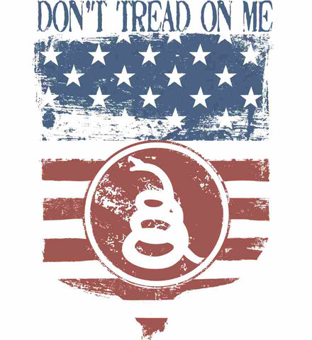 Don't Tread on Me. Rattlesnake. Faded Grunge Shield