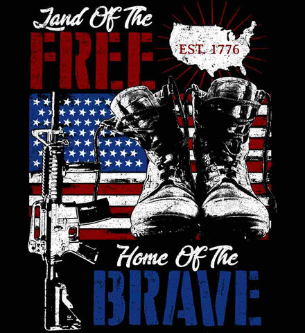 Land Of The Free. Home Of The Brave. 1776.