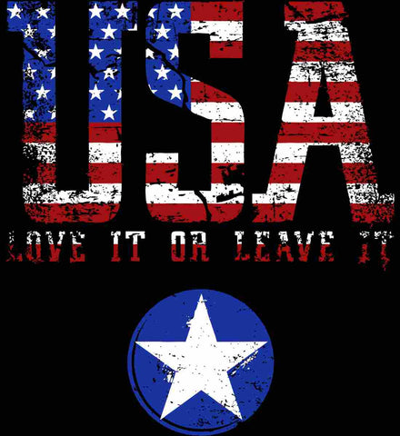 USA. Love It or Leave It. Freedom Hard.