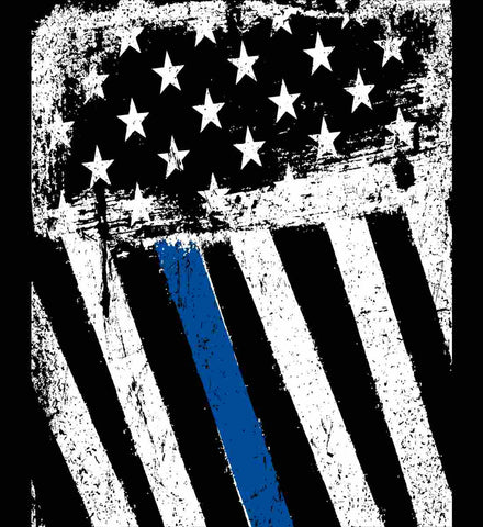 The Blue Line. American Flag.