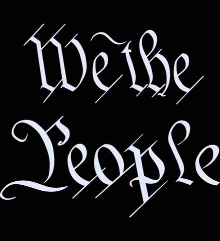 We the People. White Text.