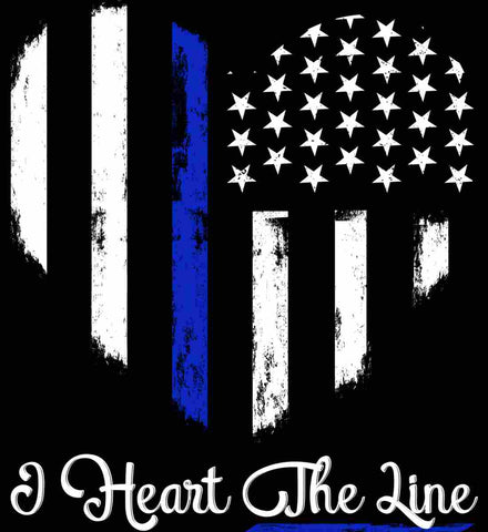 I Heart the Blue Line. Pro-Police.