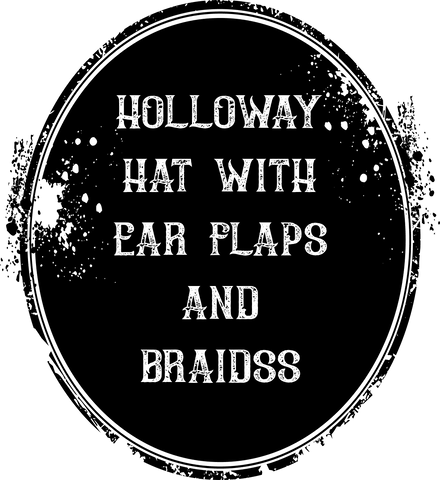 Holloway Hat with Ear Flaps and Braidss
