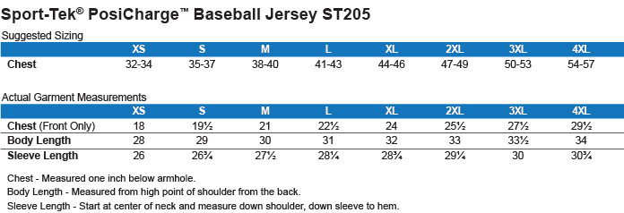 Sizing Chart: 4th of July with Star. : Sport-Tek Polyester Game Baseball Jersey
