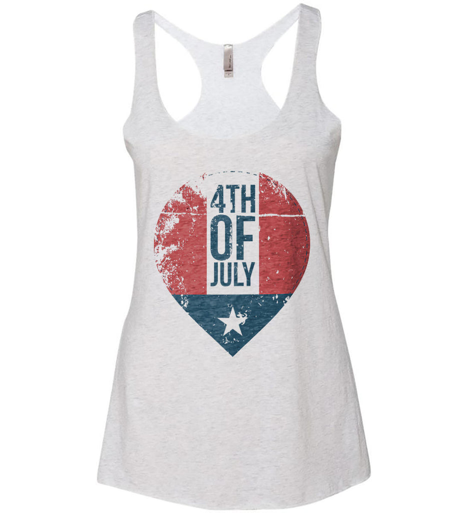 4th of July with Star. Women's: Next Level Ladies Ideal Racerback Tank.-2