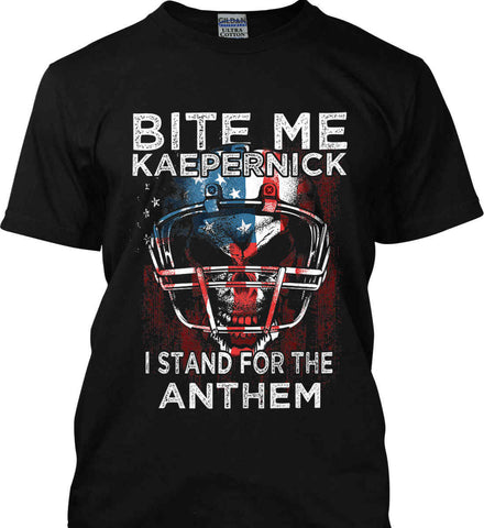 Kaepernick. I Stand for the Anthem. Gildan Tall Ultra Cotton T-Shirt.