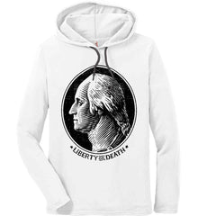 George Washington Liberty or Death. Black Print Anvil Long Sleeve T-Shirt Hoodie.