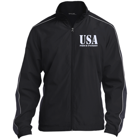 USA. Proud Patriot. Sport-Tek Colorblock Windbreaker. (Embroidered)