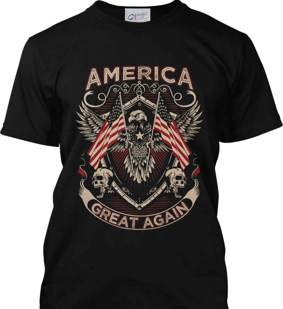 America. Great Again. Port & Co. Made in the USA T-Shirt.-1