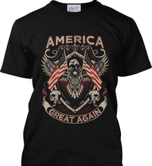 America. Great Again. Port & Co. Made in the USA T-Shirt.