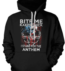 Kaepernick. I Stand for the Anthem. Gildan Heavyweight Pullover Fleece Sweatshirt.
