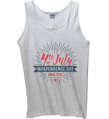 4th of July. Independence Day Since 1776. Gildan 100% Cotton Tank Top.