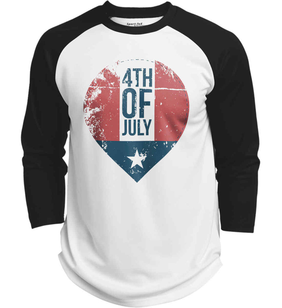 4th of July with Star. Sport-Tek Polyester Game Baseball Jersey.-1
