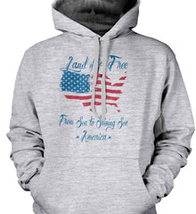 Land of the Free. From sea to shining sea. Gildan Heavyweight Pullover Fleece Sweatshirt.