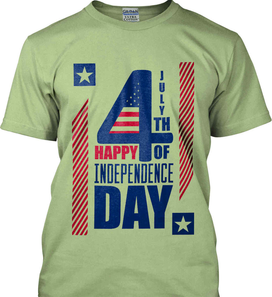 4th of July with Stars and Stripes. Gildan Ultra Cotton T-Shirt.-9
