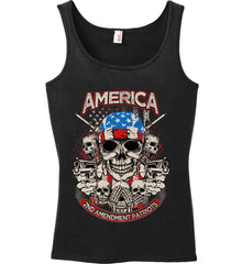 America. 2nd Amendment Patriots. Women's: Anvil Ladies' 100% Ringspun Cotton Tank Top.