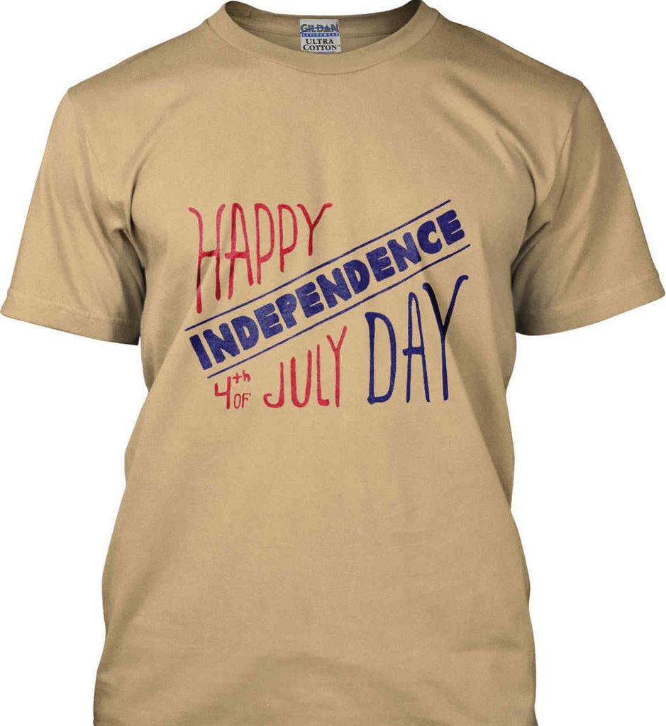 Happy Independence Day. 4th of July. Gildan Ultra Cotton T-Shirt.-5