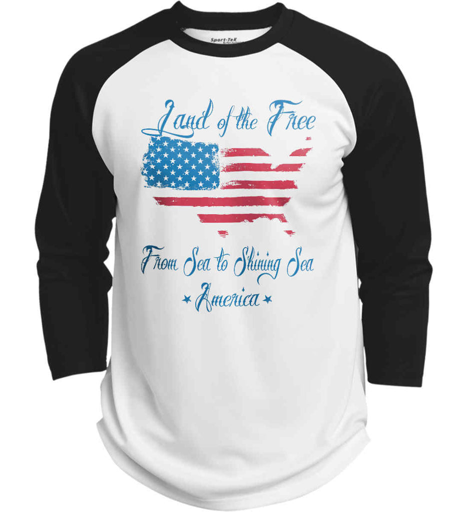 Land of the Free. From sea to shining sea. Sport-Tek Polyester Game Baseball Jersey.-2