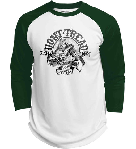 Don't Tread on Me: 1776. Black Print. Sport-Tek Polyester Game Baseball Jersey.