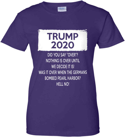 TRUMP 2020. Women's: Gildan Ladies' 100% Cotton T-Shirt.