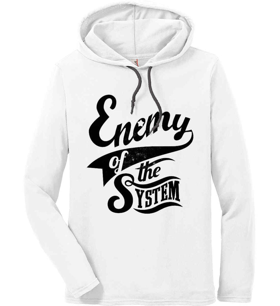 Enemy of The System. Anvil Long Sleeve T-Shirt Hoodie.-1