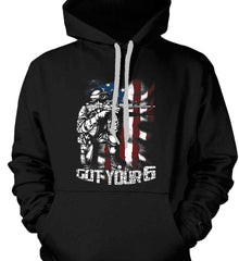 Got Your Six. Soldier Flag. Gildan Heavyweight Pullover Fleece Sweatshirt.